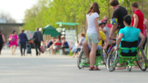 Wheelchair stock footage