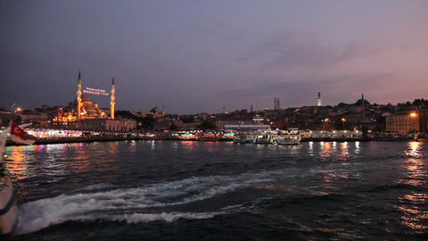 Travel Along Golden Horn Bay stock footage
