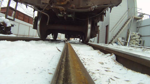 Train Coupling System Crash Test ( Bottom View ) stock footage