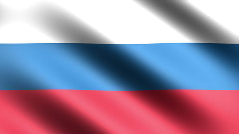 4k Flag Russia stock footage