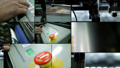 Offset Printing Montage stock footage
