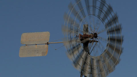 Old Windmill Close Up stock footage