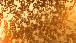 Music Notes Looping Background stock footage