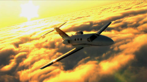 Business people travelling by private jet Footage