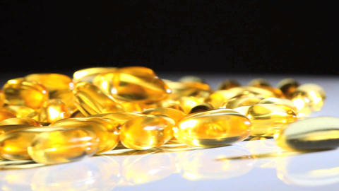 Studio Close-up Of Vitamin Capsulesfor Healthy Living stock footage
