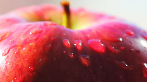 Rotating Red Apple Macro stock footage