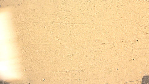 Applying Putty On A Concrete Wall stock footage