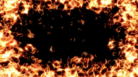 Fire Frame HD stock footage