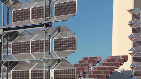 Reflector of solar power station. Close up Footage
