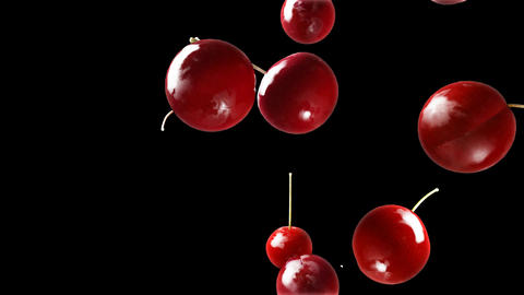 Cherry Falling Down Black stock footage