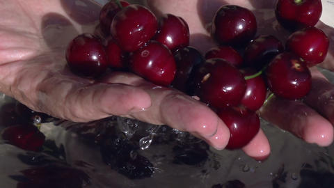 Cherry In Water HD stock footage
