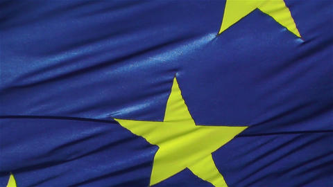 European Union Flag 1 native slow motion Footage