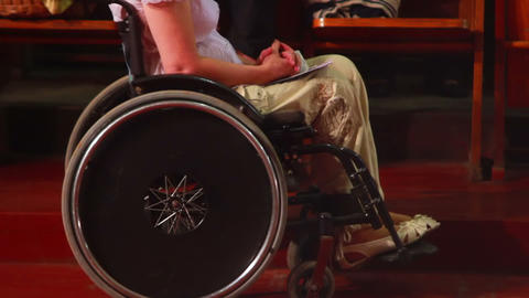 Man in Wheelchair 1 Footage