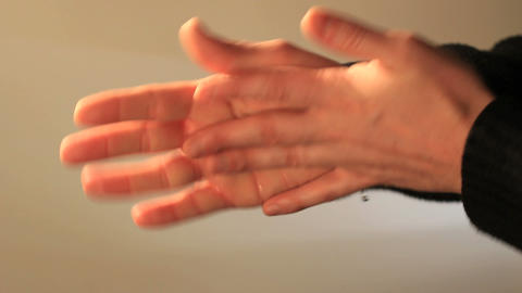 Hands Sanitizing stock footage