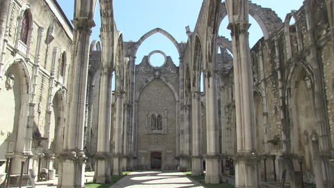 Carmo Church stock footage