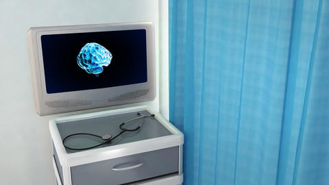 brain rotate medical screen Animation