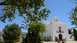 Typical Andalusian Chapel, Pan stock footage