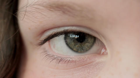 Close Up Of Girl's Eye, Rack Focus stock footage