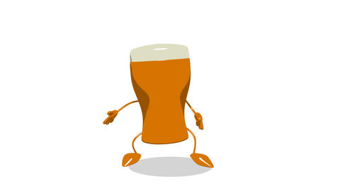 toon beer jump 1 Animation