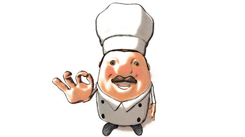 Toon Chef Right stock footage