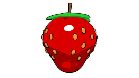 Toon Strawberry stock footage