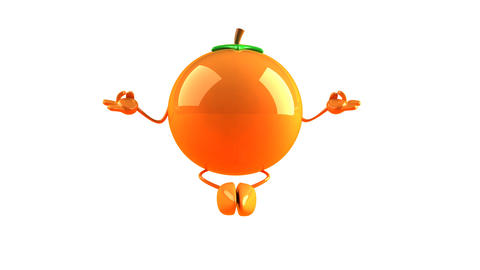 yoga orange HD Animation