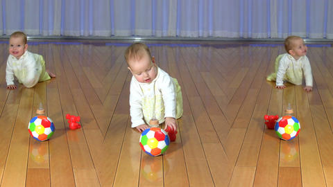 Crawling Baby stock footage
