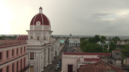 Cienfuegos Museo Provincial From Above stock footage