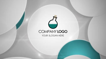 Circles Logo Reveal stock footage