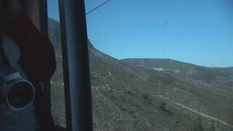 Couple In Cablecar stock footage