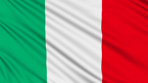 Italian Flag, With Real Structure Of A Fabric stock footage