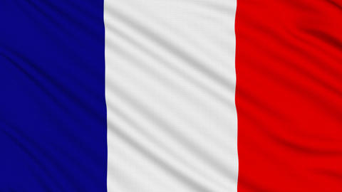 French Flag, With Real Structure Of A Fabric stock footage