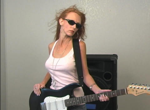 Rocker Girl stock footage