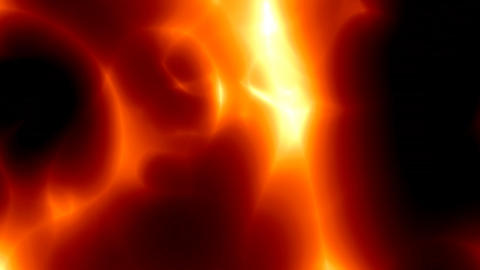 Fiery Red Lava Rotation stock footage