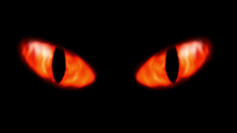 Animation of a evil looking fiery eyes Animation