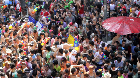 Songkran Festival In Thailand stock footage