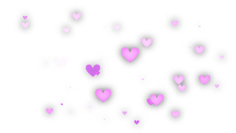 Heart Pink White 4 stock footage