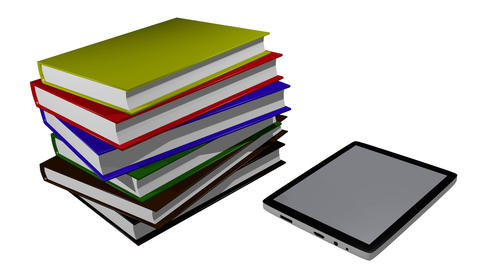 Electronic Books stock footage