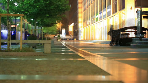 Night Walk In The City 4 stock footage