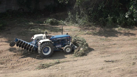 Tractor Clearing Land Footage