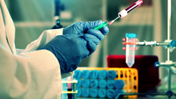 blood tests in a medical laboratory Animation