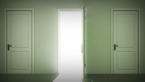 Doors Opening And Closing Looped Animation. Alpha  stock footage