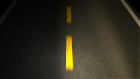 The Road. Yellow Line On New Asphalt Road stock footage