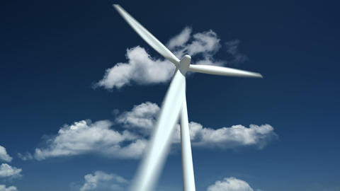 Wind Turbine. Close Up stock footage