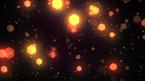 Fantasy Hexagons 1 stock footage
