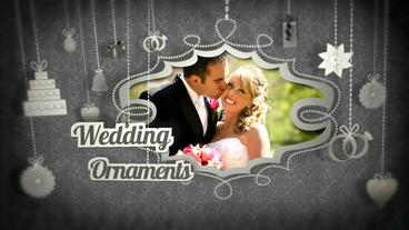 Wedding Ornaments stock footage