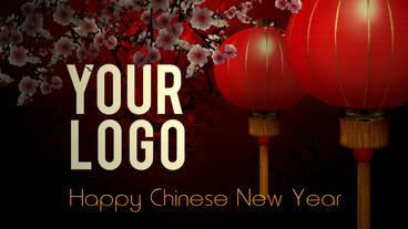 Chinese New Year Intro stock footage