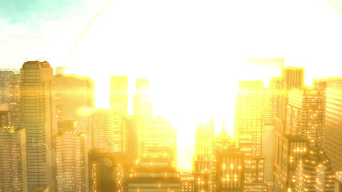 Meteorite Crash City Hd stock footage
