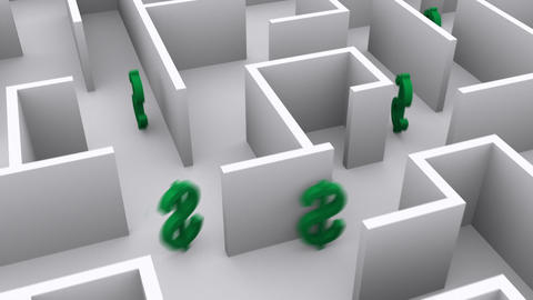 Money In A Maze stock footage