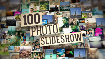 100 Photos Slide Show stock footage